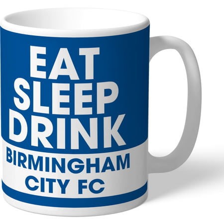 Personalised Birmingham City FC Eat Sleep Drink Mug