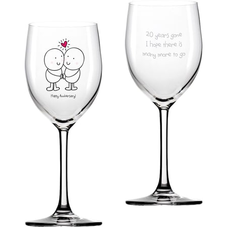Personalised Chilli & Bubble's Anniversary Wine Glass