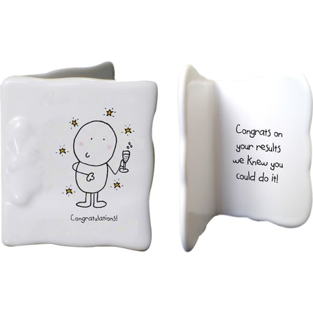 Personalised Chilli & Bubbles Congratulations Ceramic Message Card