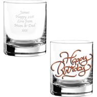 Personalised Happy Birthday Glass Tumbler