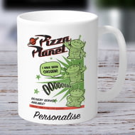 Personalised Toy Story 4 Pizza Planet Aliens Ceramic Mug