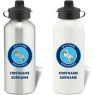 Personalised Wycombe Wanderers Bold Crest Aluminium Sports Water Bottle