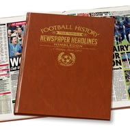 Personalised Wimbledon Football Newspaper Book - Leatherette Cover