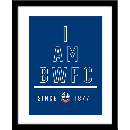 Personalised Bolton Wanderers I Am Framed Print