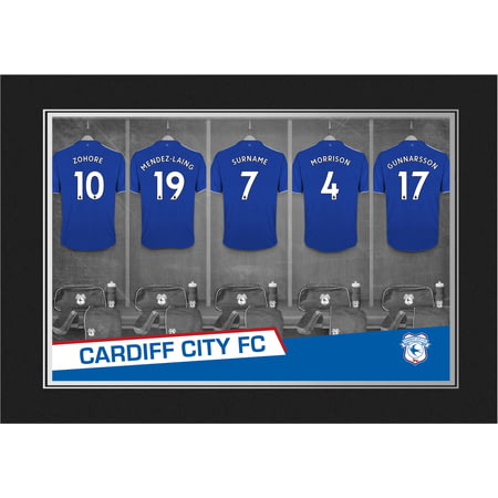 Personalised Cardiff City 9x6 Dressing Room Shirts Photo Folder