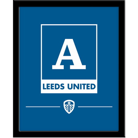 Personalised Leeds United FC Monogram 290x360 Framed Print