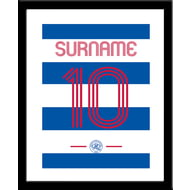 Personalised Queens Park Rangers FC Retro Shirt Framed Print