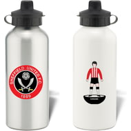 Personalised Sheffield United FC Player Figure Aluminium Sports Water Bottle