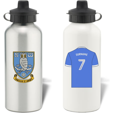 Personalised Sheffield Wednesday FC Shirt Aluminium Sports Water Bottle