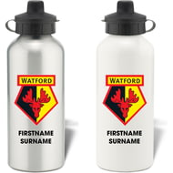 Personalised Watford FC Bold Crest Aluminium Sports Water Bottle