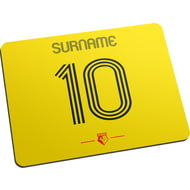 Personalised Watford FC Retro Shirt Mouse Mat