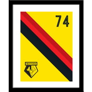 Personalised Watford Stripe Framed Print