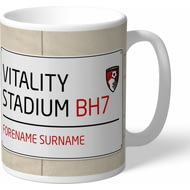 Personalised AFC Bournemouth Street Sign Mug