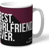 Personalised Burnley FC Best Girlfriend Ever Mug