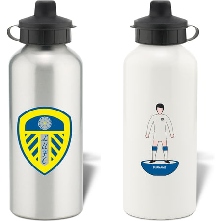 Personalised Leeds United FC Player Figure Aluminium Sports Water Bottle