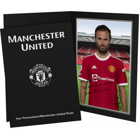 Personalised Manchester United FC Mata Autograph Photo Folder