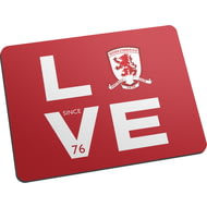 Personalised Middlesbrough Love Mouse Mat