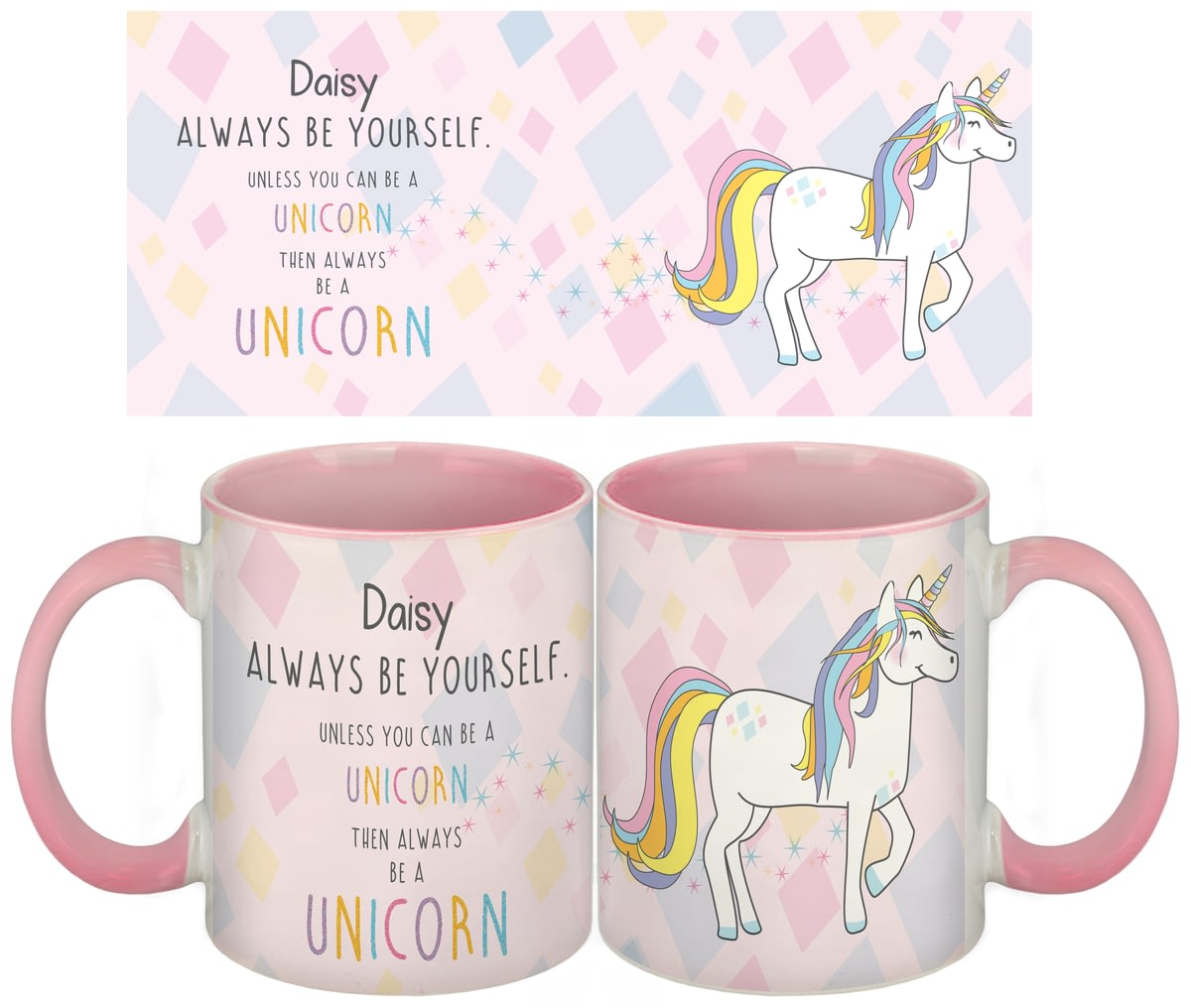 Personalised Pink Be Always A Mug Unicorn Ceramic vw8nmON0