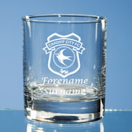 Personalised Cardiff City FC Crest Whisky Glass