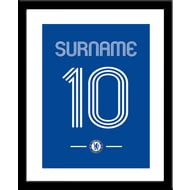 Personalised Chelsea FC Retro Shirt Framed Print