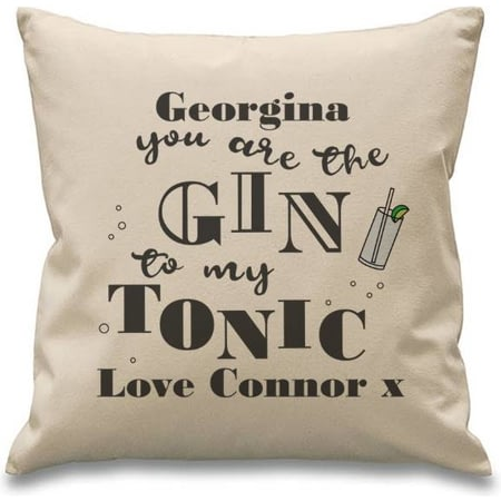 Personalised Gin To My Tonic Cushion & Insert