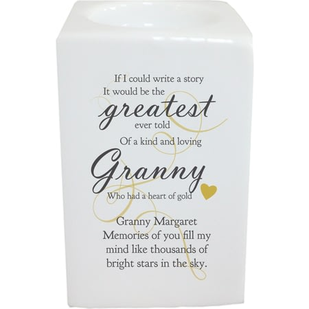 Personalised Memorial Greatest Story Vanilla Scented Candle
