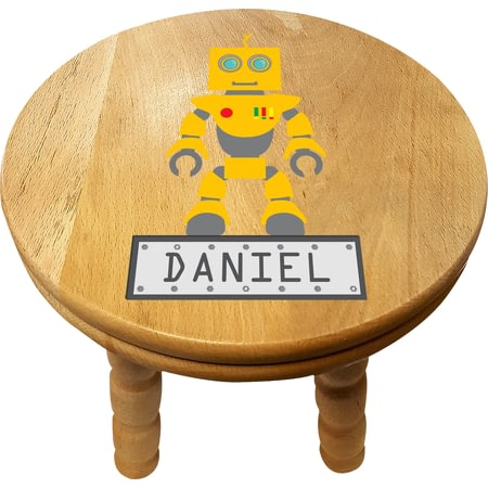 Personalised Robot Wooden Stool