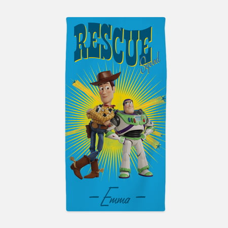 Personalised Toy Story 4 Kids Towel - Rescue Squad