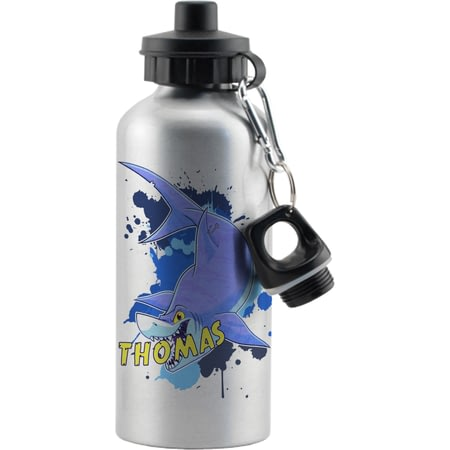Personalised Underwater Adventure Shark Sports Bottle