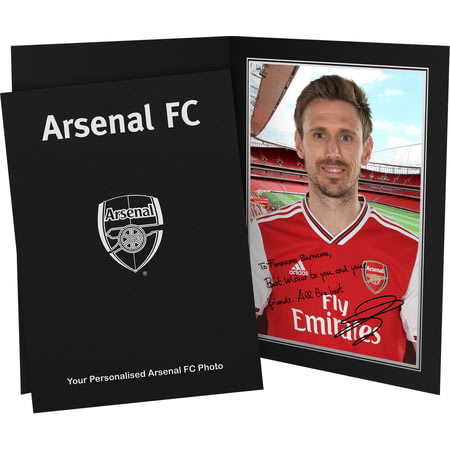 Personalised Arsenal FC Monreal Autograph Photo Folder