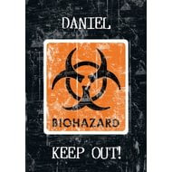 Personalised Biohazard CAUTION - A4 Unined Notebook