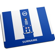 Personalised Brighton & Hove Albion FC Player Figure Mouse Mat