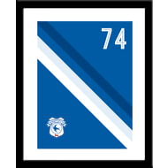 Personalised Cardiff City Stripe Framed Print