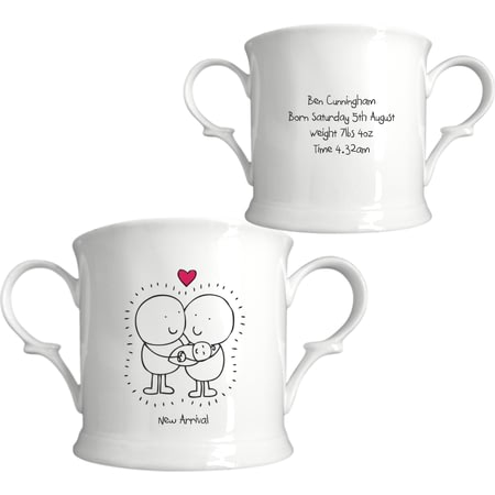 Personalised Chilli & Bubble's New Baby Loving Cup