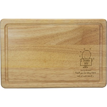 Personalised Chilli & Bubble's Thank You Rectangle Wooden Chopping Board