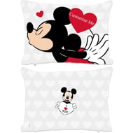 Personalised Disney Valentines Mickey Mouse Rectangle Cushion - 45x30cm