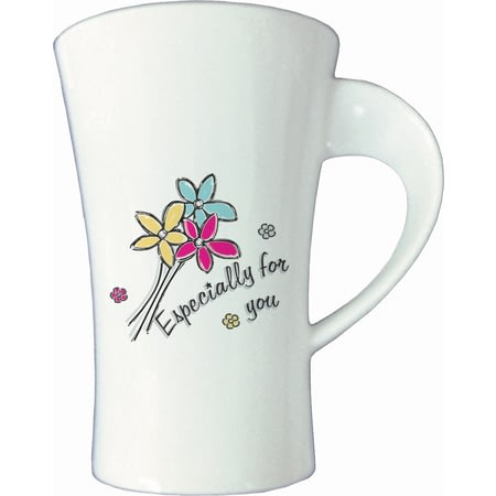 Personalised Especially For You Flowers Twist Handle Ceramic Mug