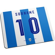 Personalised Huddersfield Town Retro Shirt Mouse Mat