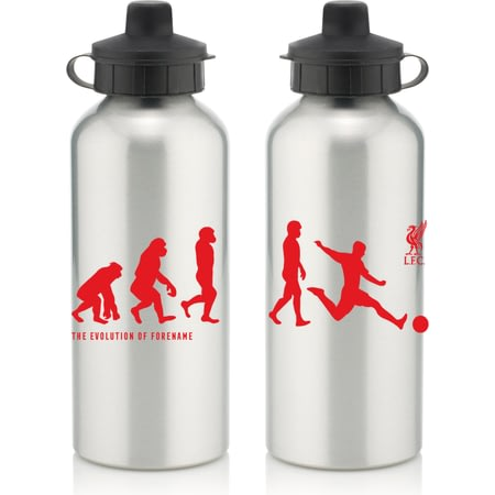 Personalised Liverpool FC Player Evolution Aluminium Sports Water Bottle