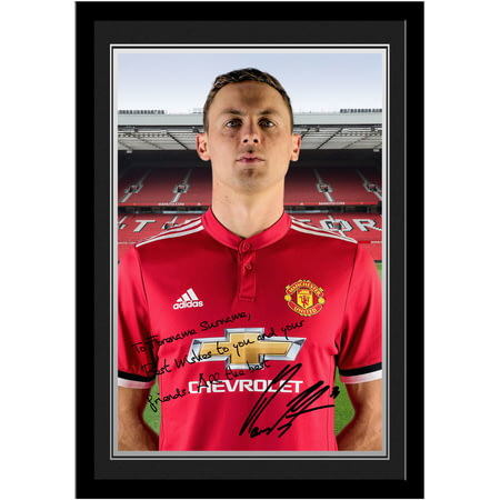 Personalised Manchester United FC Matic Autograph Photo Framed