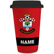 Personalised Southampton FC Eat Sleep Drink 350ml Reusable Tea / Coffee Cup with Lid