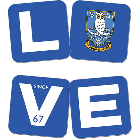 Personalised Sheffield Wednesday Love Coasters (x4)