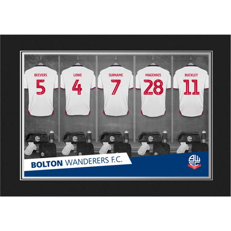 Personalised Bolton Wanderers FC 9x6 Dressing Room Shirts Photo Folder