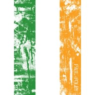 Personalised Irish Grunge Flag Notebook