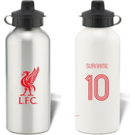 Personalised Liverpool FC Retro Shirt Aluminium Sports Water Bottle