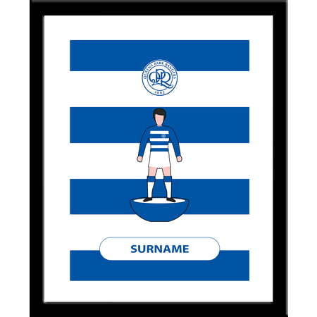 Personalised Queens Park Rangers FC Player Figure Framed Print