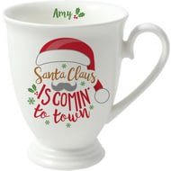 Personalised Santa Claus Is Comin' To Town Marquee Mug