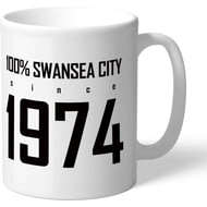 Personalised Swansea City AFC 100 Percent Mug