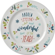 Personalised The Most Wonderful Time Of The Year Plate