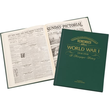 Personalised WW1 Book Newspaper Book